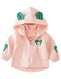 ARAUS Baby Girl Hooded Jacket Long Sleeve Cartoon Windbreaker Spring Autumn Coat
