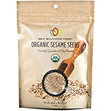 Organic Sesame Seeds Sprouted and Roasted - Healthy Snack for Vegans, Cooks and Chefs, Salad Topper, Clean Nutritious Food - by Self Balancing Food