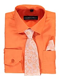 Kids World Big Boys' Dress Shirt with Accessories