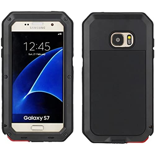Galaxy S7 Case, Tomplus [Newest] Extreme Hard Luxury Aluminum Alloy Protective Metal Full-body Rugged Holster Case with Built-in Gorilla Glass Screen Protector for Sales