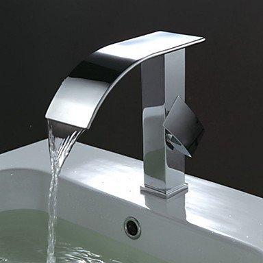 Lozse Waschbecken Wasserhahn zeitgenössische Design Wasserfall Wasserhahn (verchromt)