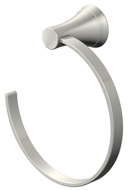 Shop Jacuzzi Lyndsay Brushed Nickel Wall-Mount Towel Ring at Lowes.com