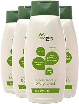 Mountain Falls Body Wash, Everyday Moisture, with Colloidal Oatmeal, Compare to Aveeno, 18 Fluid Ounce (Pack of 4)