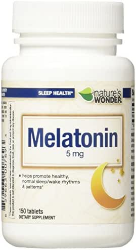 Nature's Wonder Melatonin 5mg for Sleeping, 150 Count