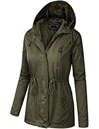 BILY Women Junior Fit Military Anorak Safari Hoodie Jacket