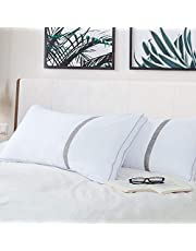 BedStory Queen Size Pillows for Sleeping 2 Pack, Hotel Pillows Down Alternative Hypoallergenic Bed Pillows for Side/Neck/Shoulder/Back, Premium Quality Fiber Filling, Easy Care, Soft