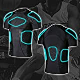 Men's Padded Compression Shirt Protective Short