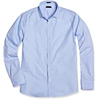 Crafted Collar Men's Classic Fit Spread Collar Stripe Business Casual Shirt