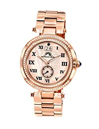 Porsamo Bleu Women's 104ASSC South Sea Crystal Rose Tone with Black Elements Stainless Steel Watch