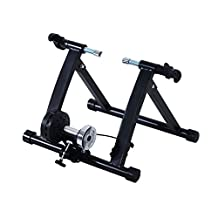 Soozier 5661-0017BL Magnetic Indoor Bike Bicycle Trainer Stand Exercise Fitness 5 Level Resistance-Black