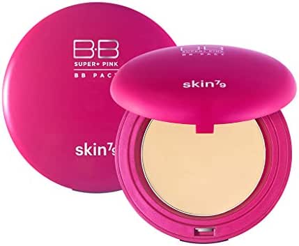 [SKIN79] Super Plus Pink BB Pact SPF30 PA++ 15g - Sebum Control Silky Finish Sun Protection Powder Pact, Light Beige Color