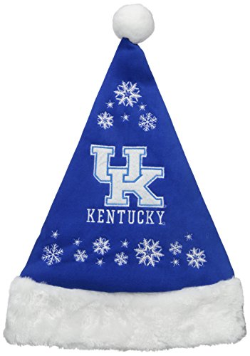 Wildcats Santa Hat (NCAA Kentucky Wildcats Full Embroidered Snowflake Santa Hat)