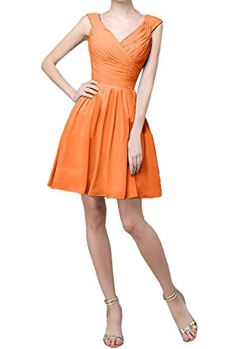 Ballkleider Braut Abendkleider Brautjungfernkleider Elegant Chiffon Flieder La Mini Linie Partykleider A Orange Kurz mia xwg0HqxFUZ
