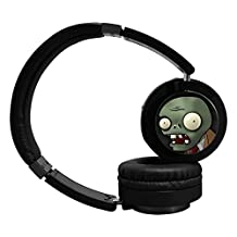 Plants vs Zombies Bluetooth Headphone Surround Sound Gaming Headset for PC Playstation 4 On Cable Controls Sports Performance Ear Pads Rotating Ear Cups Light Weight Design
