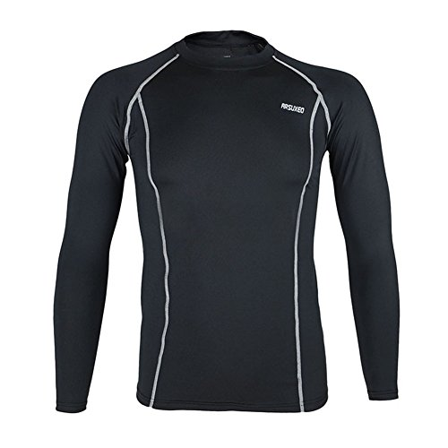 BD Men Workout GYM Shirt Compression Tights Running Bike Hik