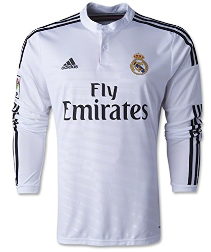 timeless design 953ec 2c7e1 Adidas Real Madrid Home Long Sleeve 2014-2015 Soccer Jersey (White) Large