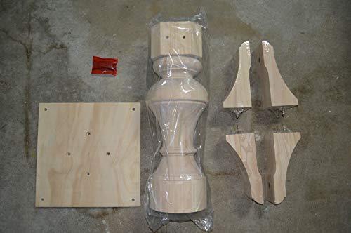 "BingLTD - 29"" Tall Taylor Round Pedestal Table Base (PD-R2901-RW-UNF)"