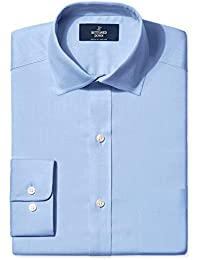 Men's Classic Fit Spread-Collar Solid Non-Iron Dress Shirt