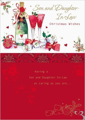 amazon com traditional son daughter in law christmas card