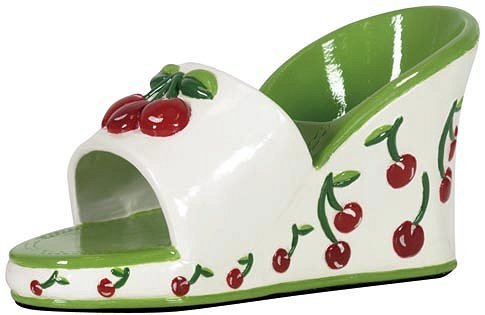 In Sights Fancy Shoes Ceramic Cell Phone Stand - Nichoal Cherry Wedge