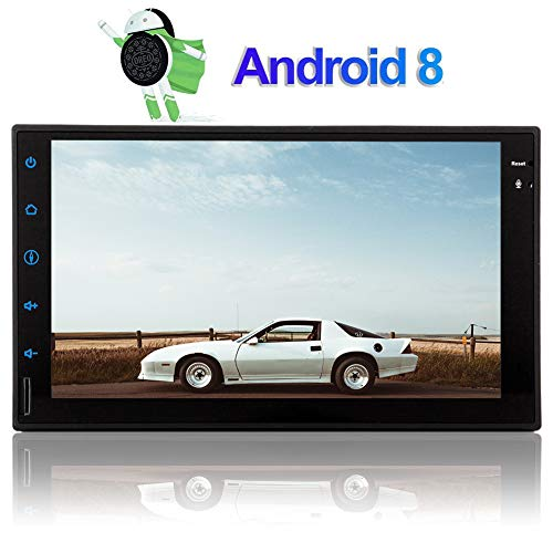 Android 8.1 Oreo Double 2 Din Car Stereo Head Unit in Dash Auto GPS Navigation Audio System 7 inch 1024 600 Touch Screen 8 Core Tablet Radio Support WiFi Bluetooth 1080P Video SWC Video Out