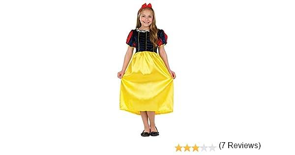Fun Shack Girl - Disfraz de Blancanieves para niña, Talla M (6-8 ...