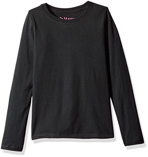 Hanes Big Girls' Comfortsoft Long Sleeve Tee, Black, L