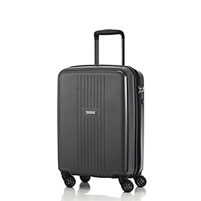 HAUPTSTADTKOFFER - F-Hain - Carry on luggage Suitcase Hardside Spinner Trolley 20¡° TSA, Black