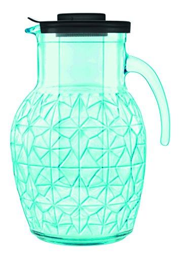 Luigis Collection Beverage (Luigi Bormioli Prezioso Pitcher with Cooling Tube, 84 oz, Blue)