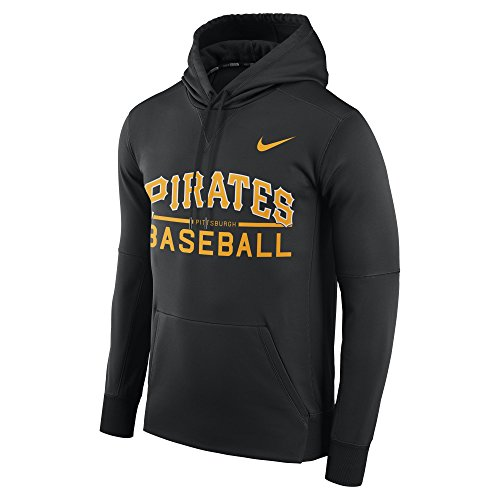 Nike Men's Pittsburgh Pirates Therma Pull Over Hoody Black Size XXX-Large ()