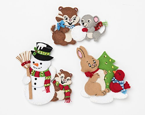 Bucilla 86882 Snow Much Fun Felt Ornament Kit, 4'', Multicolor by Bucilla