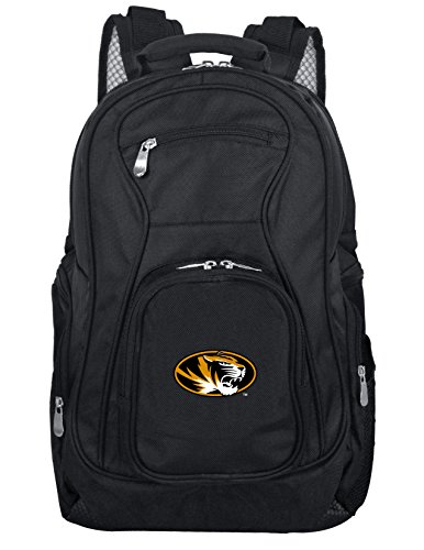 Denco NCAA Missouri Tigers Voyager Laptop Backpack, 19-inches, Black - Missouri Tigers Fan Gear