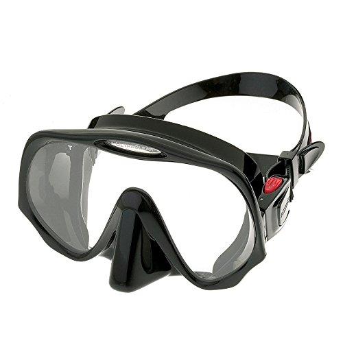 Atomic Aquatics Frameless Mask for Scuba Diving and Snorkeling, Black, Medium Fit