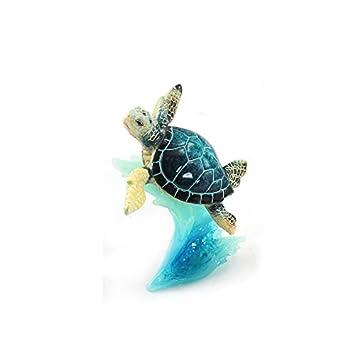 WonderMolly Sea Life Collection Blue Sea Turtle on Wave