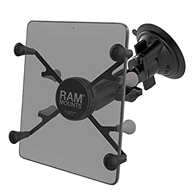 "RAM X-Grip with RAM Twist-Lock Suction Cup Mount for 7""-8"" Tablets: Automotive"
