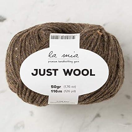 La Mia Just Wool LT013 Total 5.28 Oz 116 m // 126 Yrds 50g Each 1.76 Oz Brown 100/% Recycled Wool 3 Light DK Pack 3 Ball