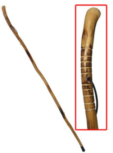 55 in Root Head Hardwood Walking Stick by Get