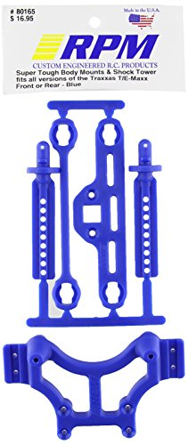 RPM 80165 Shock Tower/Adjustable Mounts Blue T/E-Maxx (Blue Shocks)