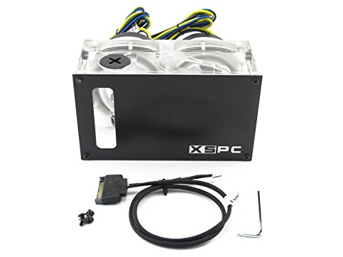 XSPC Twin D5 Dual Bay Reservoir/Pump Combo (SATA Power) by XSPC (Image #1)