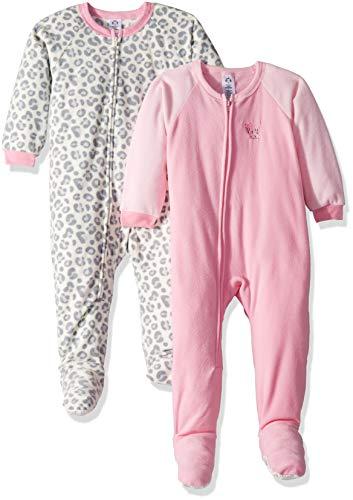 (Gerber Girls' 2-Pack Blanket Sleeper, Pink Leopard, 5T)