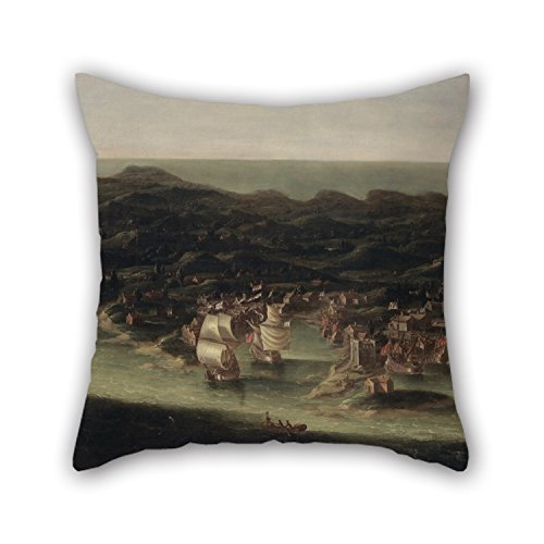 [Uloveme 18 X 18 Inches / 45 By 45 Cm Oil Painting Isaac Sailmaker - The Island Of Barbados Pillowcover ,each Side Ornament And Gift To Dining Room,teens Girls,boy] (Group Costumes For 3 Guys)