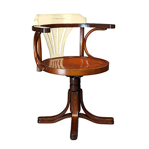 wood bankers desk chair - 6