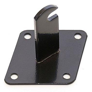 Only Garment Racks Wall Brackets for Gridwall or Grid Panels Set of 8 Pieces Black Color