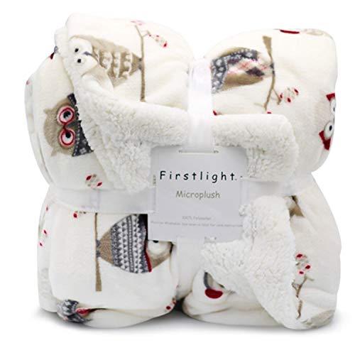winter knitted flannel fleece blanket