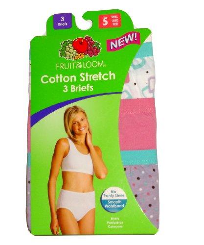 Fruit of the Loom Womens Stretch Briefs Ladies Underwear Panties