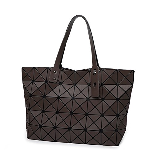 Matte Geometric Spring Japanese Brushed Leather Tote STRAWBERRYER Bags Ladies Lingge Brown Handbag Shoulder Satchel YIwxqntd