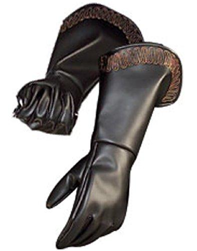 [The Highway Man's Party Cloak Mens Gauntlet Gloves Adult] (Medieval Gloves)