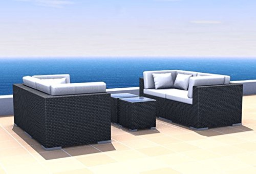 Gartenmöbel Rattan Lounge Espace Start 2 - 4 Sitze inkl. Kissen Polyrattan, dunkelbraun