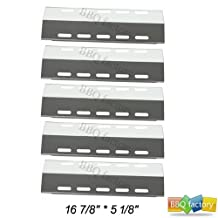 "30500701/30500097 (5-pack) Stainless Steel Heat Plate 16 7/8"" * 5 1/8"" Replacement for Select Ducane 5 Burner Gas Grill Models"