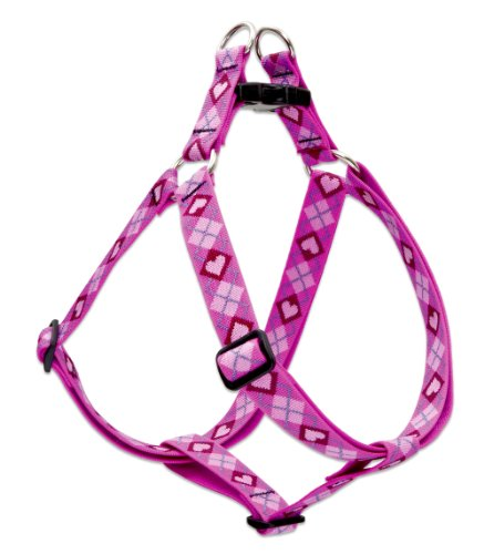 "LupinePet Originals 1"" Puppy Love 19-28"" Step In Harness for Medium Dogs"